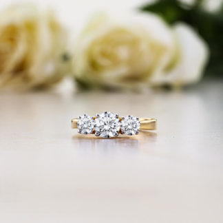 Dainty Grace Lab Diamond Ring