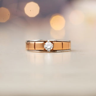 Charming Moissanite Solitaire Ring