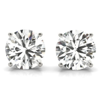 Alluring Round Shape Moissionite Earrings