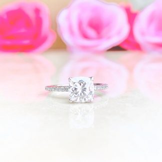 Adorna Cushion Solitaire Ring
