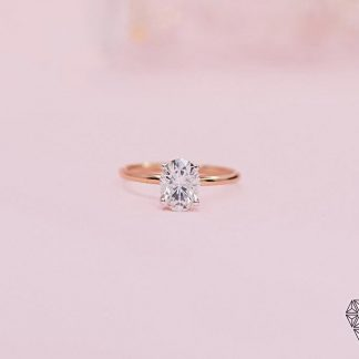 Classic Oval Moissanite Ring