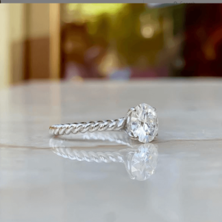 Elsie Rope Band Solitaire Ring