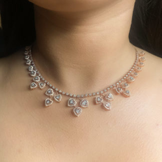 Perky Petal Lab Diamond Necklace