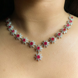 Ruby Woo Lab Diamond Necklace