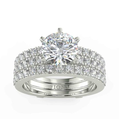 Alma Moissanite Ring