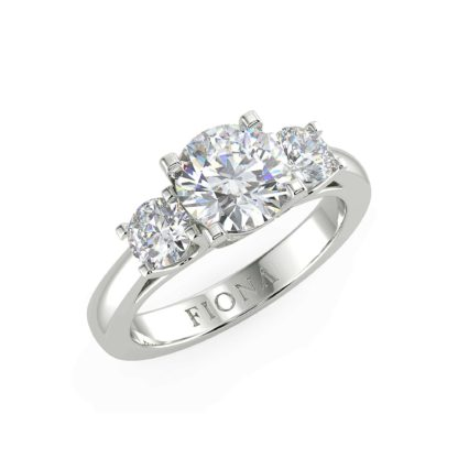 Triune Moissanite Ring
