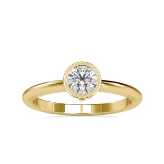 Bezel Round Solitaire Ring