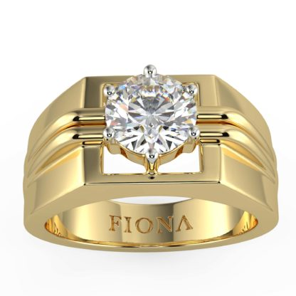 Mark Moissanite Ring