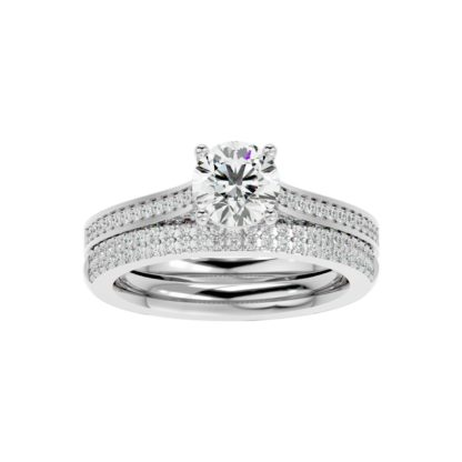 Gera Round Moissanite Ring