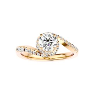 Caught in Wave Moissanite Ring