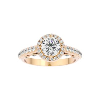 Magnolia Halo Moissanite ring
