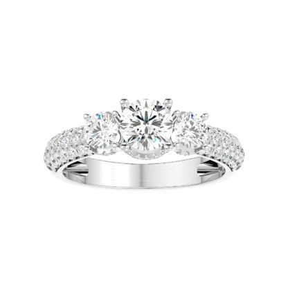 Tres Stone Moissanite Ring