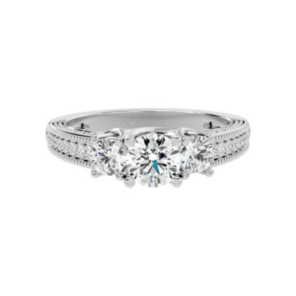 Three Star Moissanite Ring
