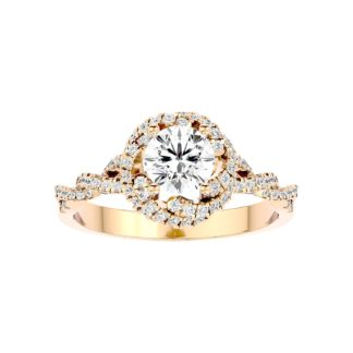 Twisted Moissanite Ring