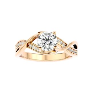 Criss-Cross Moissanite Ring