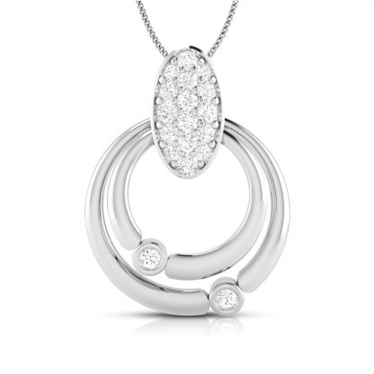 Duo Loop Lab-Diamond Pendant