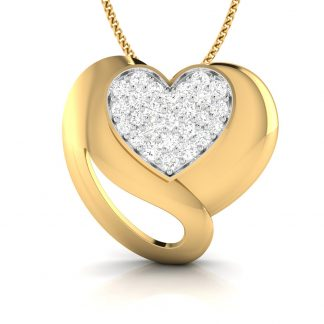 Corazon Lab-Diamond Pendant