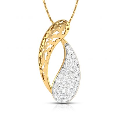 Duo Paisley Lab Diamond Pendant
