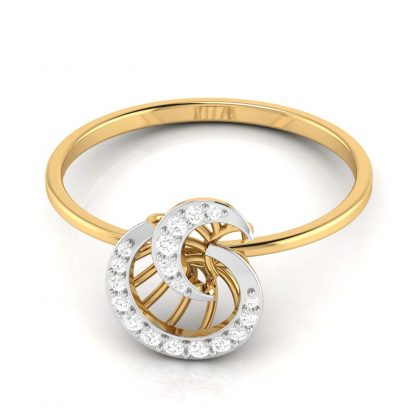 Luna Twirl Lab Diamond Ring