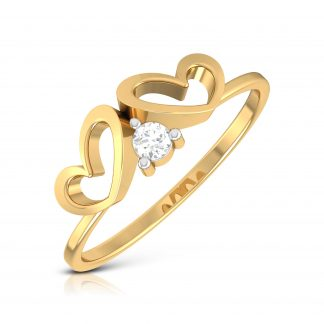 In Between The Hearts Lab Diamond Ring
