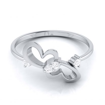 Caught in Heart Lab Diamond Ring