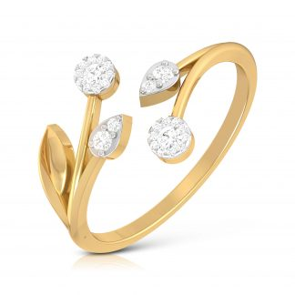 Petite Plume Lab Diamond Ring