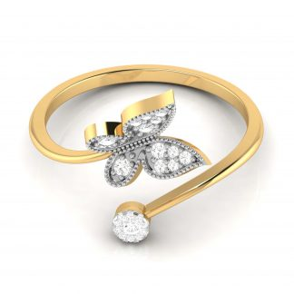 Butterfly and Bloom Lab Diamond Ring