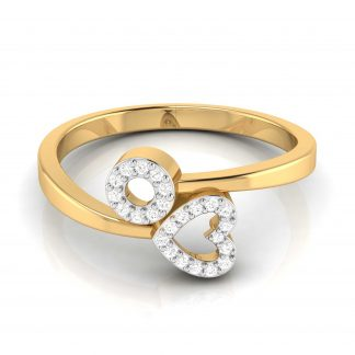 Heart and O Lab Diamond Ring