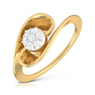 Ribbon and Diamonds Lab Diamond Ring
