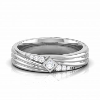 Ribbon Lab Diamond Ring