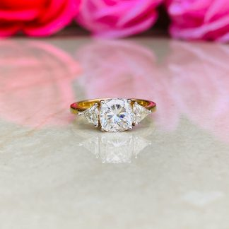 Fancy Finesse Three Stone Ring