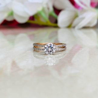 Sparkle Story Solitaire Ring